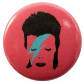 David Bowie - 'Face Pink' Button Badge